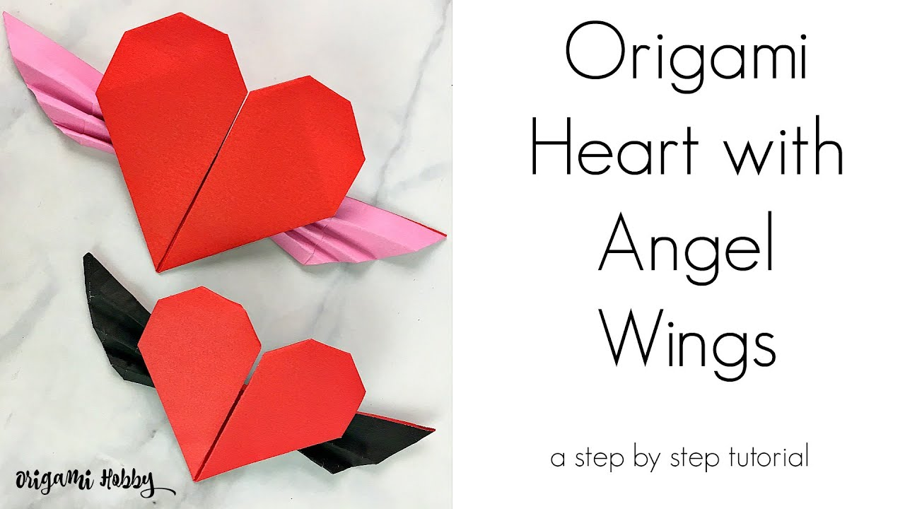 Step By Step Instructions How To Make Origami Heart With Wings ... | 720x1280