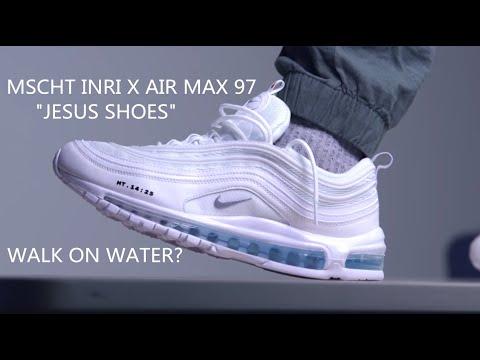 Mens Nike Air Max 97 reflective red logo shoes size 10 Rare