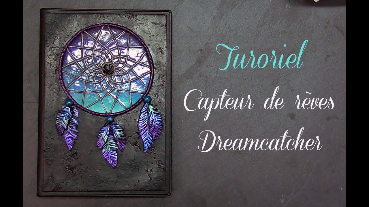 tuto fimo polym re capteur de r ves dreamcatcher polymer clay youtube. Black Bedroom Furniture Sets. Home Design Ideas