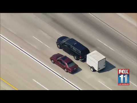 FULL: Police chase of stolen SUV pulling trailer through Los Angeles