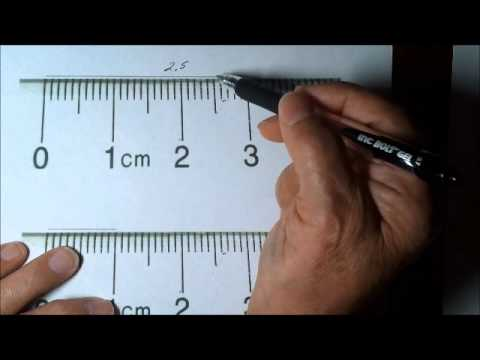 How to Measure length correctly using a Centimeter Ruler - YouTube