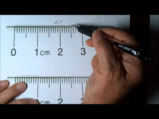How To Measure Length Correctly Using A Centimeter Ruler Youtube