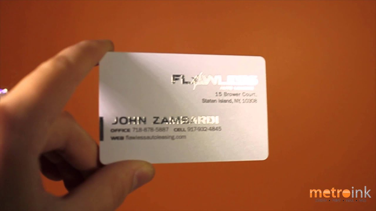 metroink 30pt frosted plastic business card flawless auto leasing
