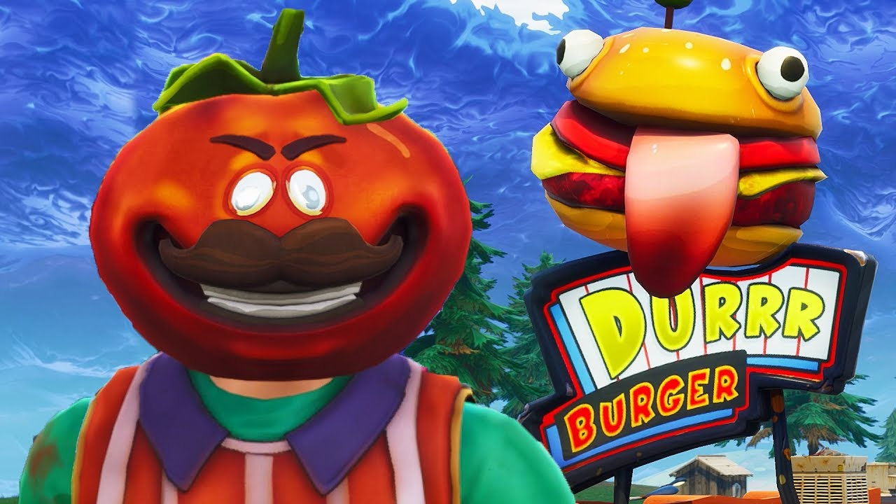 TOMATOHEAD vs BEEF BOSS (Durrr Burger) - Fortnite Short ...