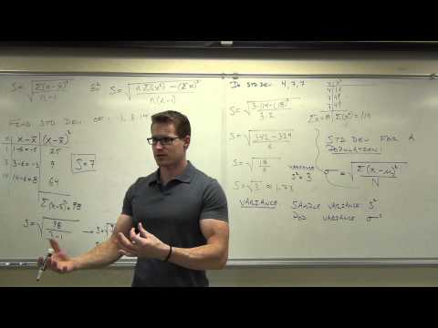 Statistics Lecture 3.3: Finding the Standard Deviation of a