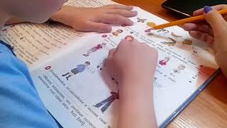 Влог 24.09.2017 Изучаем Английский язык 2 класс,делаем уроки 1 часть