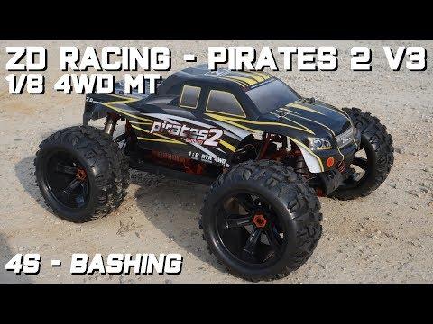• ZD Racing - Pirates 2 V3 - 1/8 4WD MT - 4S Bashing •