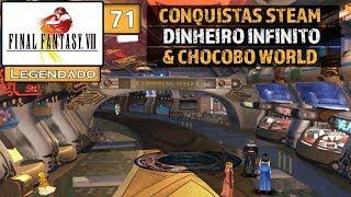 Final Fantasy VIII #71 - Conquistas da Steam, Dinheiro Infinito & Chocobo World (Legendado em PT-BR)
