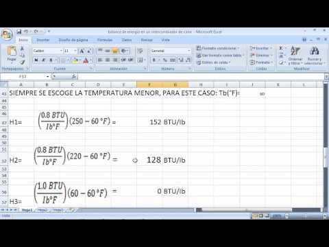 balance de energia en intercambiadores de calor