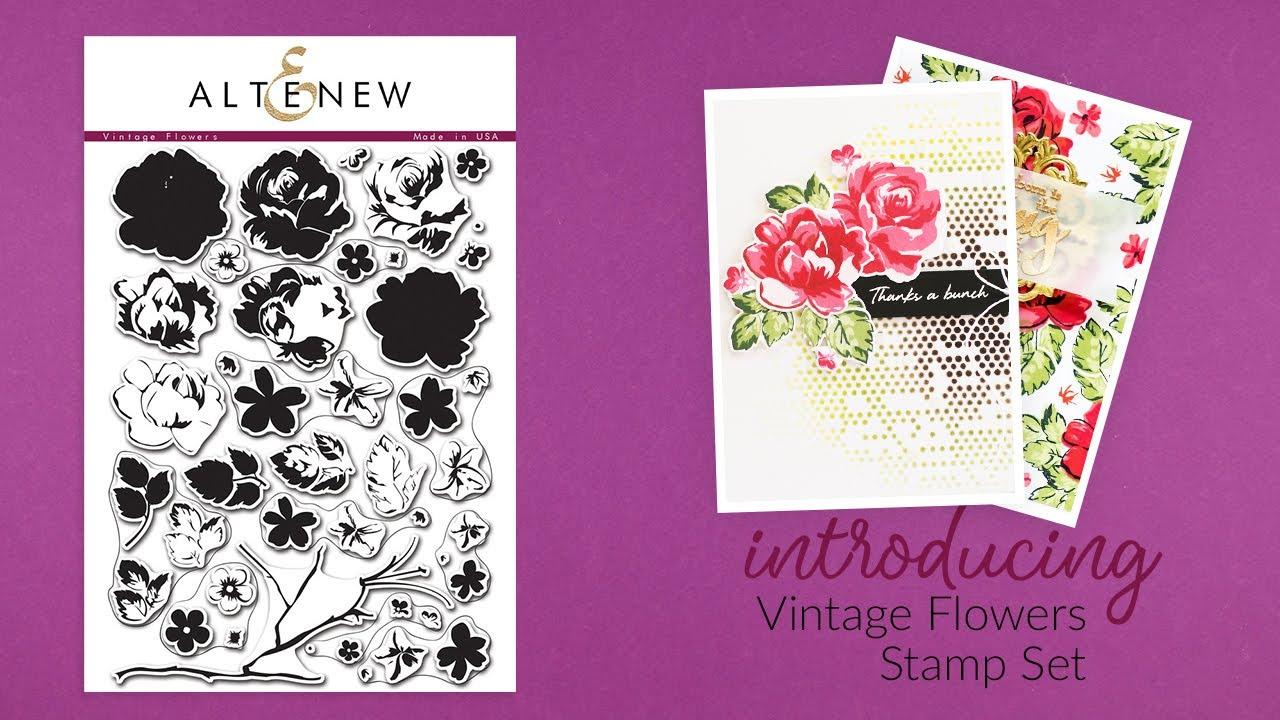 Altenew Stamps Intro Vintage Flowers Youtube