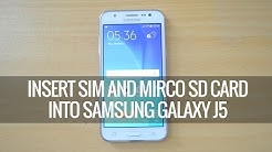 How to Insert SIM card and SD Card into Samsung Galaxy J5