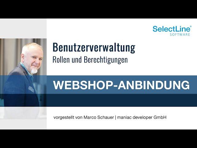 Benutzerverwaltung in der SelectLine Shopware-Anbindung