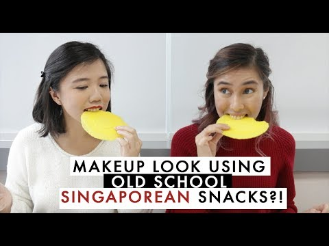 Makeup Look Using SINGAPOREAN SNACKS?!   Daily Vanity