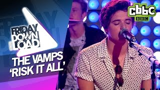 Here's The Vamps performing 'Risk It All' live on CBBC's Friday Dow...