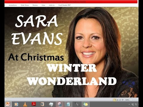 Sara Evans - Winter Wonderland (Lyrics)