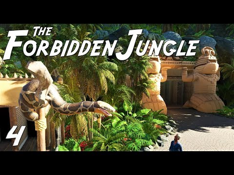Planet Coaster: The Forbidden Jungle (adventure) - Ep. 4 - Jungle harbor and park entrance
