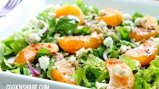 Orange Basil Salad With Honey Balsamic Vinaigrette
