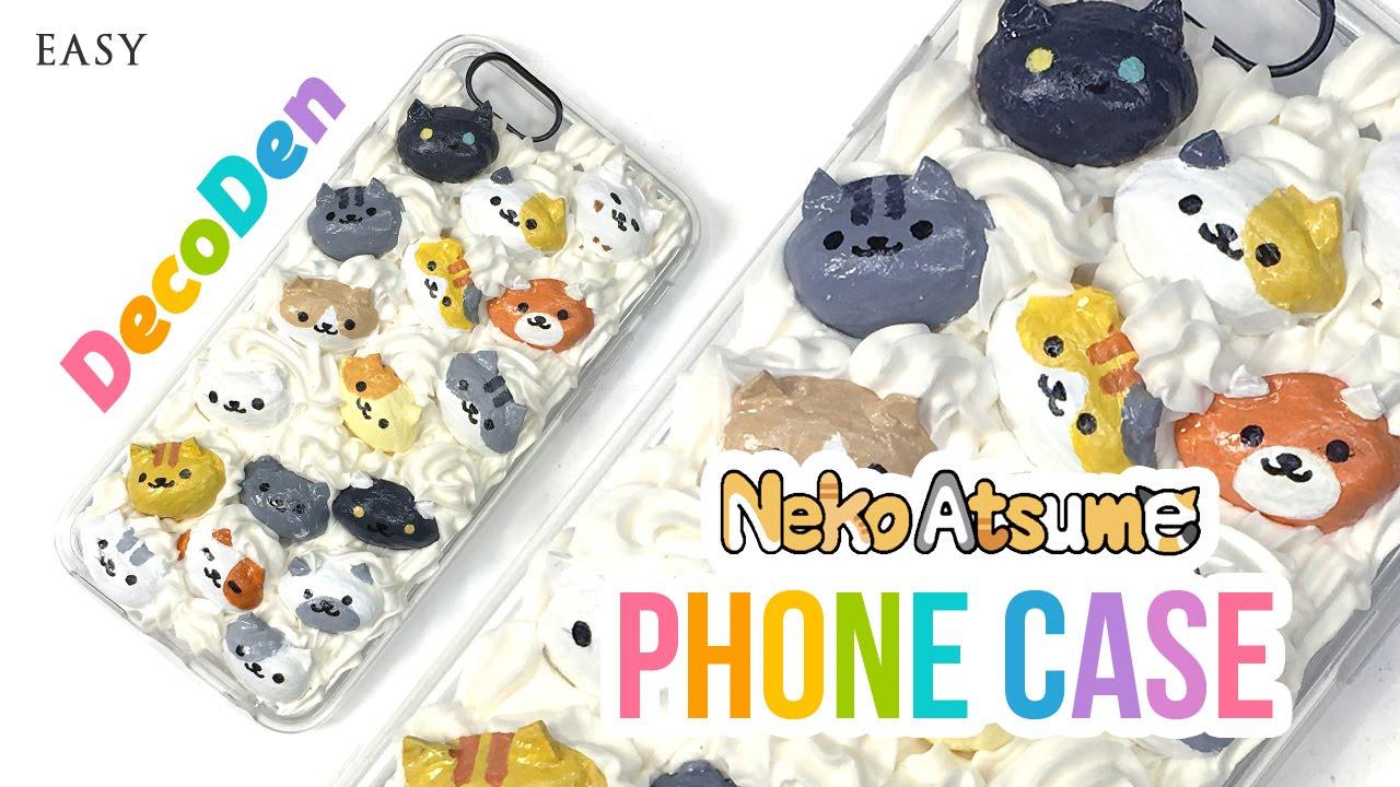 Diy Phone Case Adorable Neko Atsume Decoden Diy Youtube