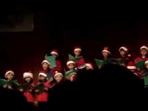 Diego singing Christmas songs in Mandarin