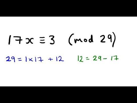 Solve a Linear Congruence using Euclid's Algorithm