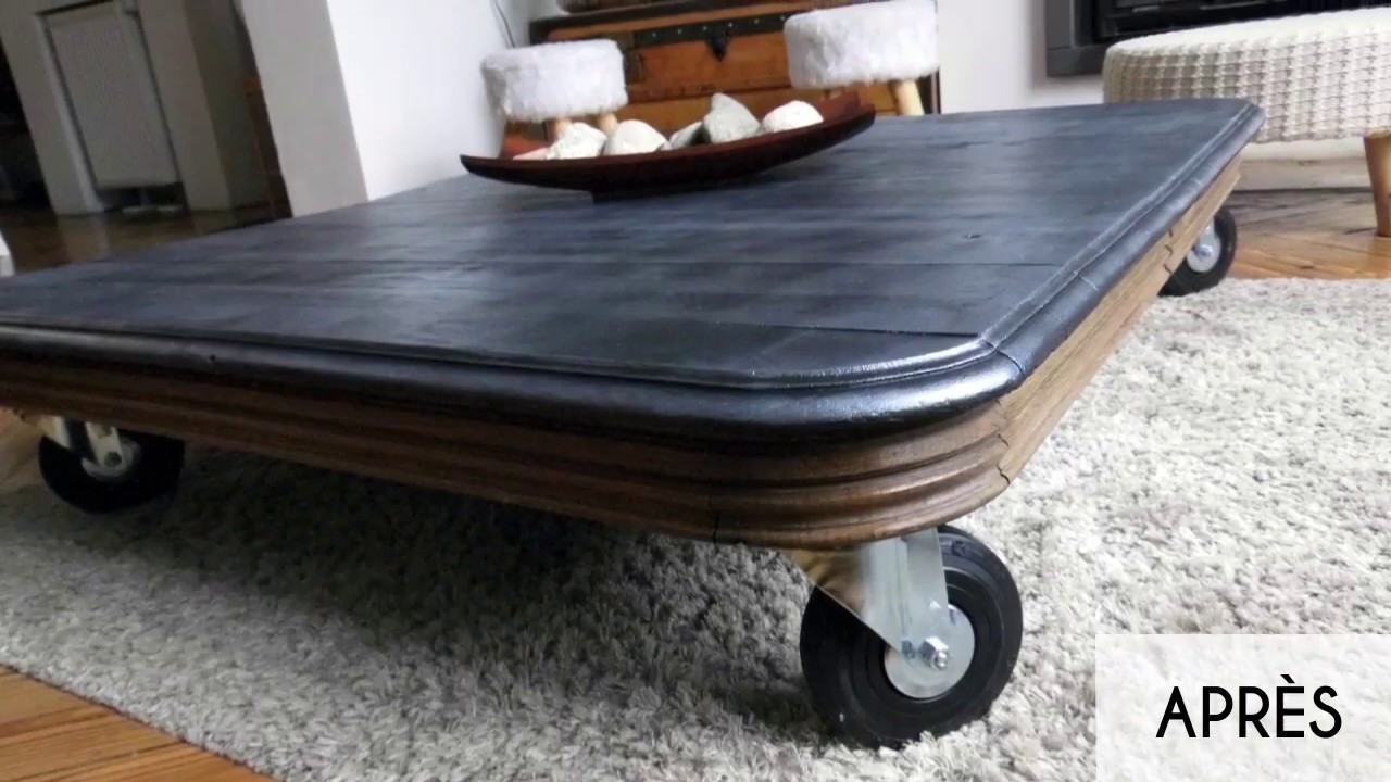 cr er une table basse dans l 39 esprit industriel youtube. Black Bedroom Furniture Sets. Home Design Ideas