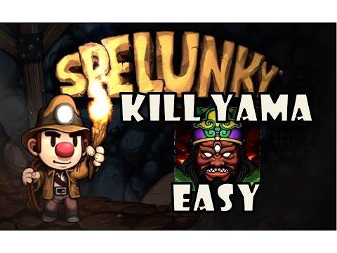 Spelunky - How To Kill Yama Easy Strategy Tutorial