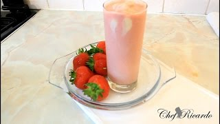 A Requested Fresh Home Made Ice Cream Strawberry Smoothie Best Recipe Forever