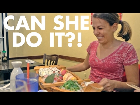 EATING AN ENTIRE BOAT OF SUSHI (with Stevie Boebi)
