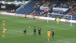 Goals from Mansfield 3-1 Notts County, pre-season friendly, 12July2014