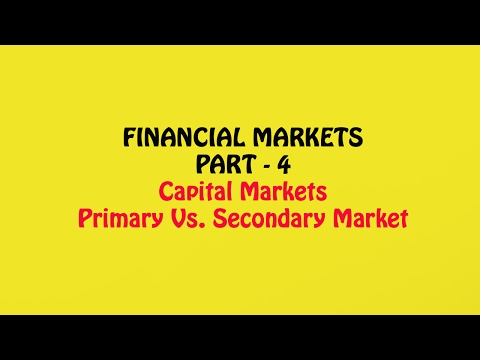 Write about the secondary markets make financial instruments