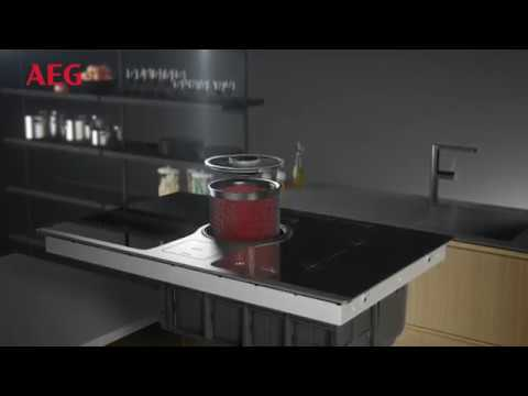 Table induction avec hotte int gr e combohob aeg youtube - Plaque induction hotte integree ...