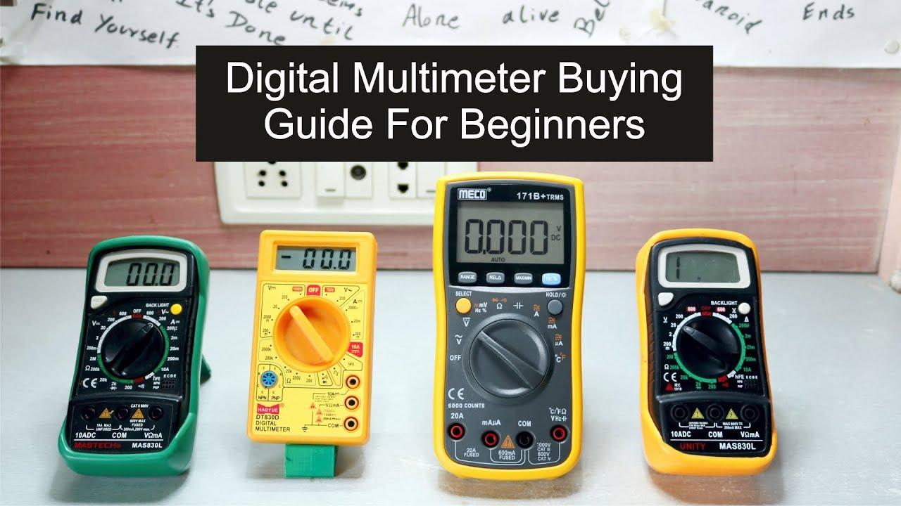 digital multimeter buying guide beginners youtube rh youtube com Fluke Digital Multimeter Craftsman Digital Multimeter