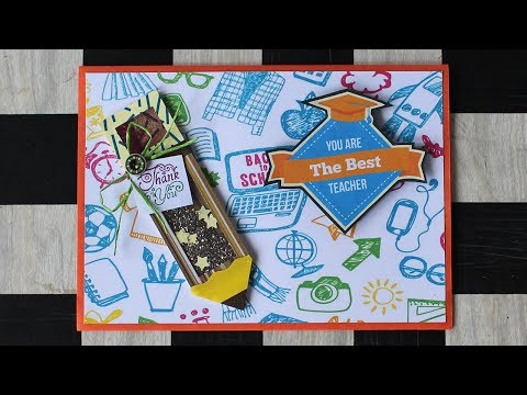 Teacher Appreciation Cards | Thank You Card For Teacher | Simple And Easy Shaker Card