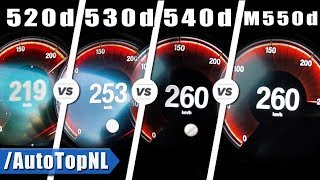 BMW 520d vs 530d vs 540d vs M550d ACCELERATION & TOP SPEED by AutoTopNL
