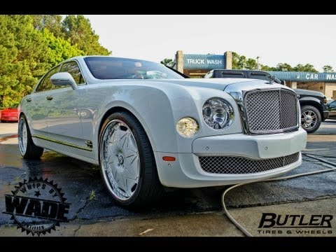 "Bentley Mulsanne On  24"" Diamond Encrusted Forgaitos By Butler Tires & Wheels"