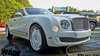 "Bentley Mulsanne on  24"" Diamond encrusted Forgaitos by Butler Tires & Wheels"