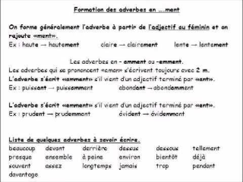 Transformez L Adjectif En Adverbe Serie 2 Youtube