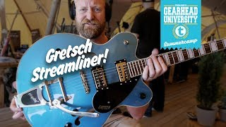 GRETSCH G2622 STREAMLINER - It's blue and jazzy! soft like a kitten with a looooooong spring. #tgu19