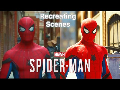 Recreating Scenes From Spider-Man Movies In Marvel&39;s Spider-Man PS4  Spider-Man PS4 Gameplay