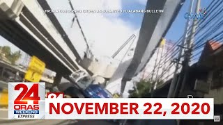 24 Oras Weekend Express: November 22, 2020 [HD]