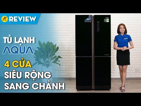 Tủ lạnh Aqua Inverter 456 lít: sang chảnh, 2 ngăn rau củ tiện dụng (AQR-IG525AM GB) • Điện máy XANH