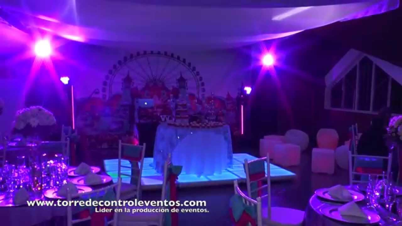Fiesta Tematica Neon tomorrow land e Invierno 15 años - YouTube