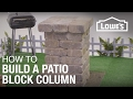 How to Build a Patio Block Column