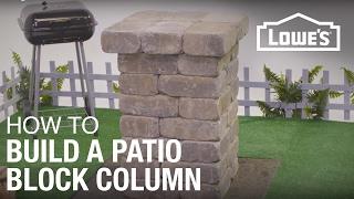 How To Build A Patio Block Column