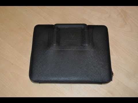 Portino iPad Black Leather Business Case