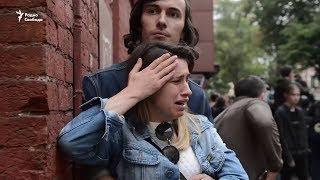 Жесткий разгон оппозиционеров в Москве