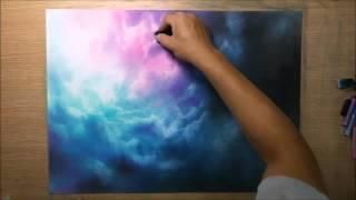 Парень рисует невероятные картины только пальцами рук и пастелью