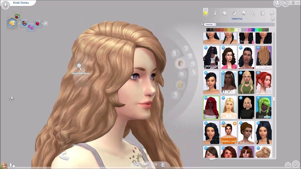 The Sims 4 All My Female Maxis Match Cc Hair Pt 2 By Homucchi