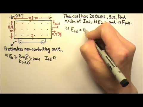 AP Physics 2: Induction 9: Pulling a Rectangular Coil Out of Magnetic Field