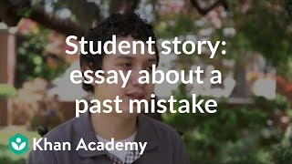 Student story: Admissions essay about a past mistake